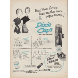 "1952 Dixie Cups Ad ""Best News"""