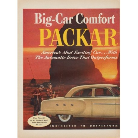 """1952 Packard Ad """"Big-Car Comfort"""""""
