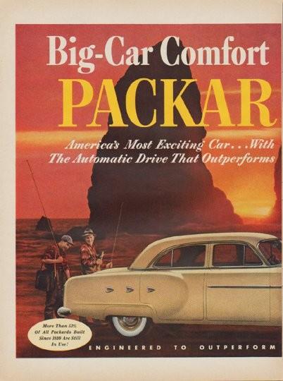 1952 Packard Vintage Ad Quot Big Car Comfort Quot