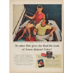"1952 Ansco Color Film Ad ""No other film"""