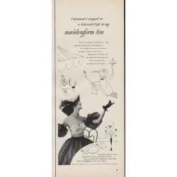 "1952 Maidenform Bra Ad ""I dreamed"""