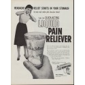 "1960 Alka-Seltzer Ad ""Liquid Pain Reliever"""