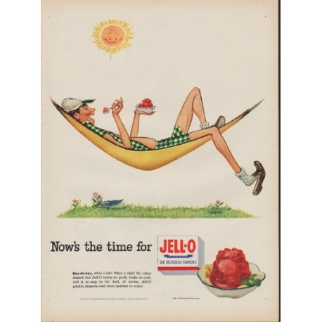 "1952 Jell-O Ad ""Now's the time"""