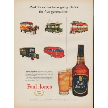 "1952 Paul Jones Whiskey Ad ""going places"""