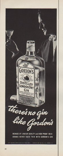 1952 Gordon S Gin Vintage Ad Quot No Gin Quot