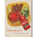 """1952 Hunt's Catsup Ad """"Deliciously yours"""""""
