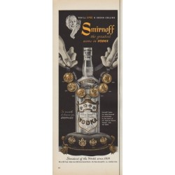 "1952 Smirnoff Vodka Ad ""You'll Like A Vodka Collins"""
