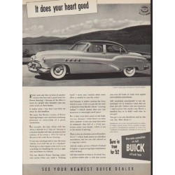 "1952 Buick Ad ""It does your heart good"""