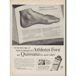 "1952 Quinsana Ad ""first sign of symptoms"""