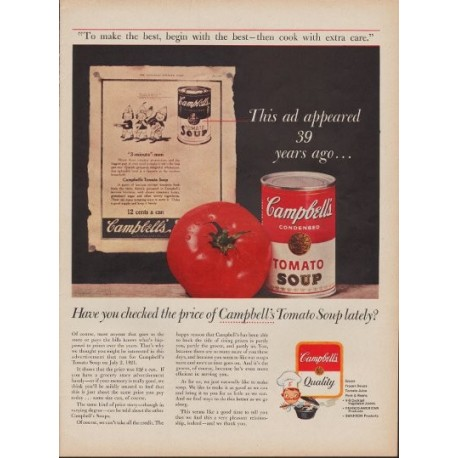 "1960 Campbell's Soup Ad ""Begin With The Best"""