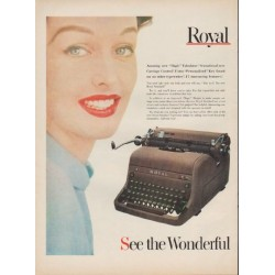 "1952 Royal Typewriter Ad ""greatest new typewriter"""