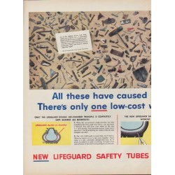 "1952 Goodyear Tires Ad ""blowouts or punctures"""