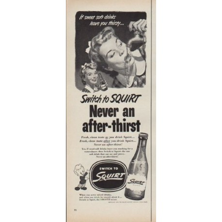 "1952 Squirt Ad ""Switch to Squirt"""