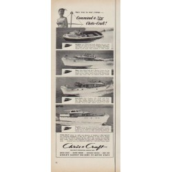"1952 Chris-Craft Ad ""Command a New Chris-Craft"""