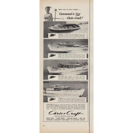 "1952 Chris-Craft Ad ""Command a New Chris-Craft"""