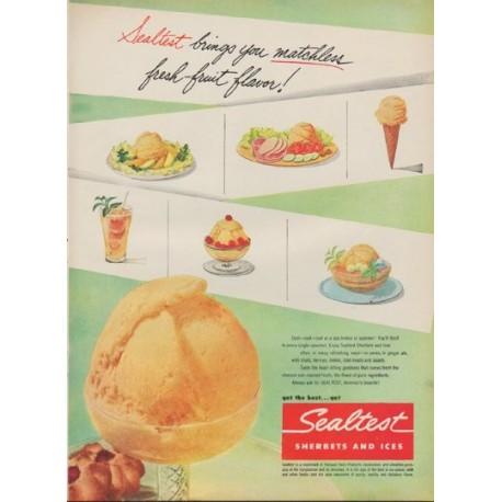 "1952 Sealtest Ad ""fresh-fruit flavor"""