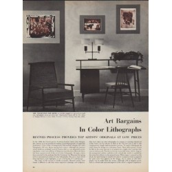 "1952 Color Lithographs Article ""Art Bargains"""