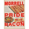 """1952 Morrell Pride Bacon Ad """"Crisp and tasty"""""""