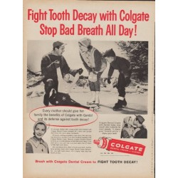 "1960 Colgate Dental Cream Ad ""Fight Tooth Decay"""