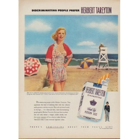 "1952 Tareyton Ad ""Discriminating People"""
