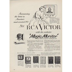 "1952 RCA Victor Ad ""Magic Monitor"""