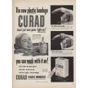 "1952 Curad Plastic Bandages Ad ""new plastic bandage"""