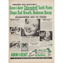 """1952 Amm-i-dent Tooth Paste Ad """"Amazing New Discovery"""""""