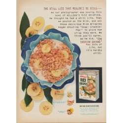 "1952 Kellogg's Rice Krispies Ad ""the still life"""