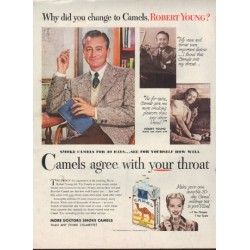 "1952 Camel Cigarettes Ad ""Robert Young"""