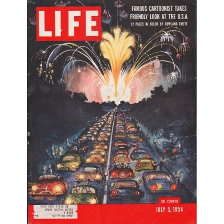 "1954 LIFE MAGAZINE Cover Page ""Rowland Emett"""
