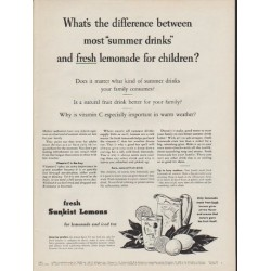 "1954 Sunkist Lemons Ad ""What's the difference"""