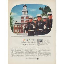 "1954 Bell Telephone System Ad ""Color TV"""