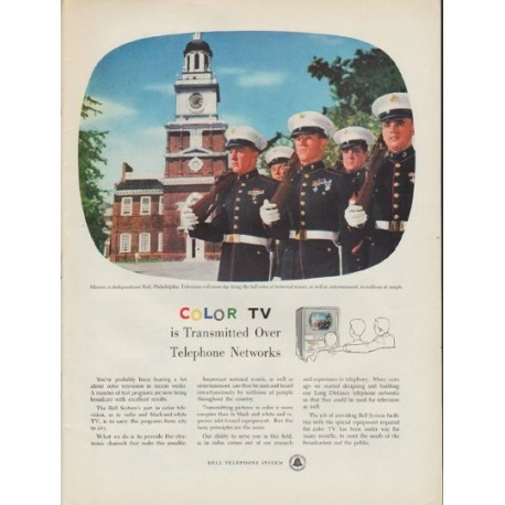 """1954 Bell Telephone System Ad """"Color TV"""""""