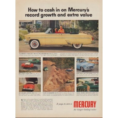 """1954 Ford Mercury Ad """"How to cash in"""""""