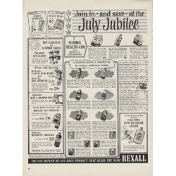 "1954 Rexall Drug Stores Ad ""July Jubilee"""