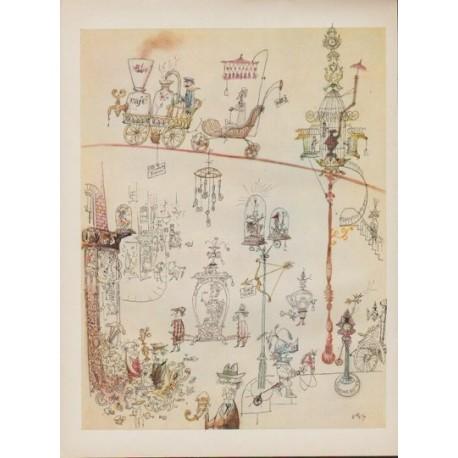 """1954 Rowland Emett Article """"Witty British Artist"""""""