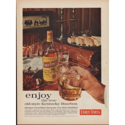 "1960 Early Times Kentucky Bourbon Ad ""Old-Style"""