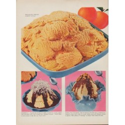"1954 American Dairy Association Ad ""Ice Cream Festival"""