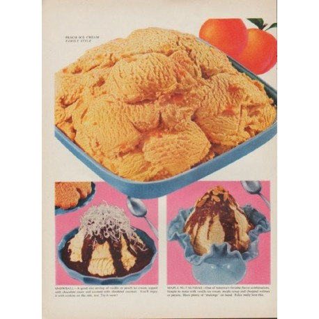 "1954 American Dairy Association Ad ""Ice Cream Festival"""