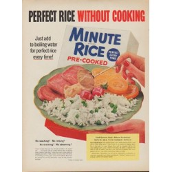 "1954 Minute Rice Ad ""Perfect Rice"""