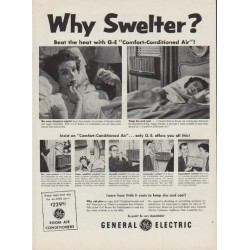 "1954 General Electric Ad ""Why Swelter?"""