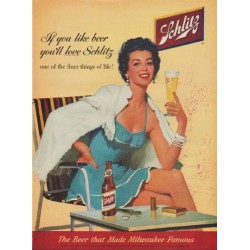 "1954 Schlitz Beer Ad ""If you like beer"""