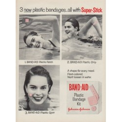 "1954 Band-Aid Ad ""Super-Stick"""