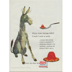 "1954 Jell-O Ad ""I wish I were a mule"""