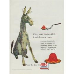 "1954 Jell-O Ad ""I wish I were a mule"""