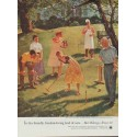 """1954 United States Brewers Foundation Ad """"Dad Takes on All Comers"""""""