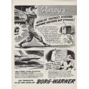 "1954 Borg-Warner Ad ""World's Fastest Pitcher"""