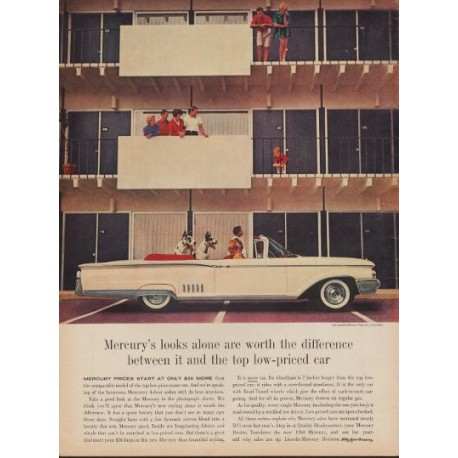 "1960 Ford Mercury Ad ""Worth The Difference"""
