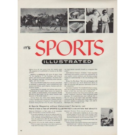 """1954 Sports Illustrated Ad """"That will be the name"""""""