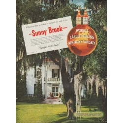 "1954 Old Sunny Brook Whiskey Ad ""On the porch"""